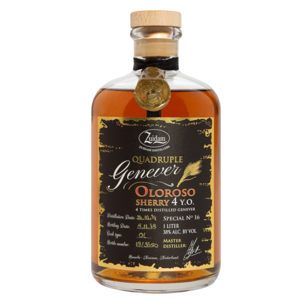 Zuidam Special & Limited Edition NR16 Quadruple Genever Oloroso Sherry 4yo